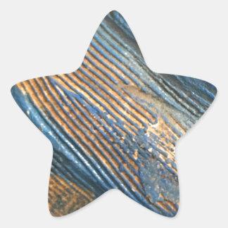 Einzigartige helle blaue Beschaffenheit Stern-Aufkleber