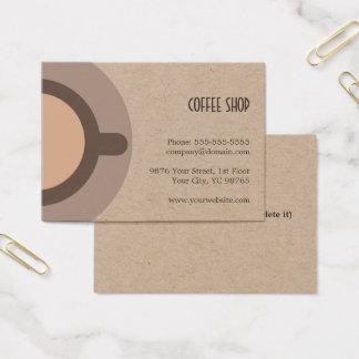 Einzigartige Kaffee-Ikonen-Kraftpapier-Kaffeestube Visitenkarte