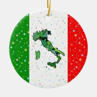 Einzigartige Karte der italienischen Rundes Keramik Ornament