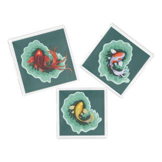 Einzigartige Koi Fisch-Kunst Acryl Tablett