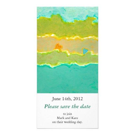 Einzigartige Kunst der romantischen Save the Date  Photokarten