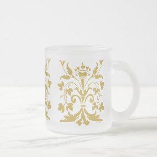 Einzigartige Lilien-Königin (antikes Gold) Mattglastasse