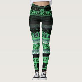 Einzigartige niedliche Smaragdgrün Leggings
