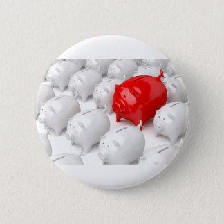 Einzigartige rote piggy Bank Runder Button 5,7 Cm