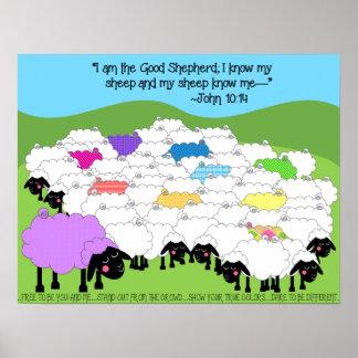 Einzigartige Schaf-guter Schäfer Poster