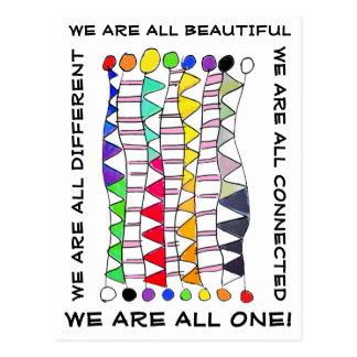 Einzigartige schöne u. eine Diversityfeier Postkarte