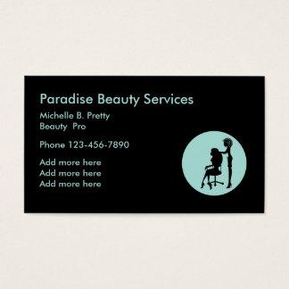 Einzigartige Schönheit Businesscards Visitenkarte