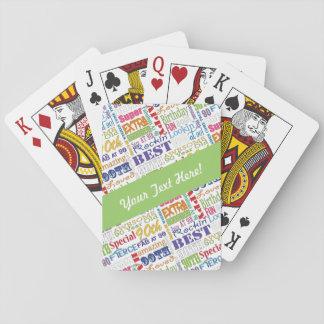 Einzigartige und Special-90. Spielkarten