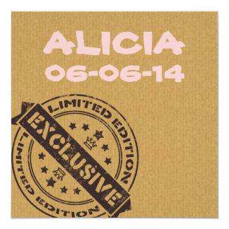 Einzigartige Vintage Geburtsmitteilung des Spaßes Quadratische 13,3 Cm Einladungskarte