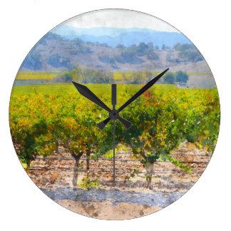 Einzigartige Wein-und Trauben-Uhr für Große Wanduhr