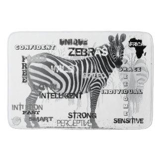 Einzigartige Zebras Badematte