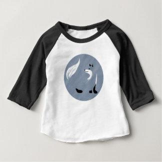 Einzigartiger blauer Fox-Entwurf Baby T-shirt