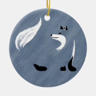 Einzigartiger blauer Fox-Entwurf Keramik Ornament