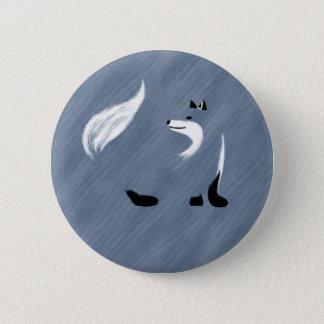 Einzigartiger blauer Fox-Entwurf Runder Button 5,7 Cm