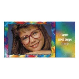 Einzigartiger bunter Fotorahmen mit Ihrer Photokartenvorlagen