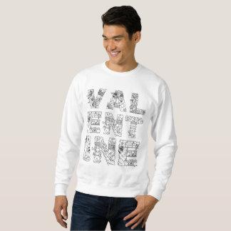 Einzigartiger eleganter dekorativer Text des Sweatshirt