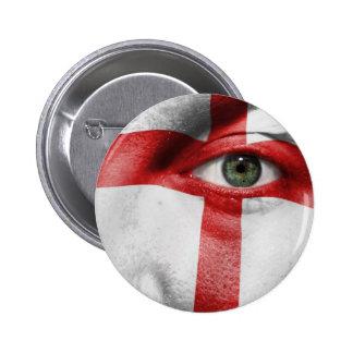 Einzigartiger England-Flaggenentwurf auf Ihrem coo Runder Button 5,7 Cm