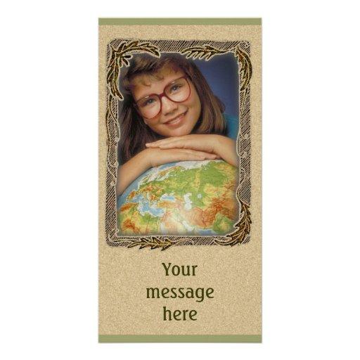 Einzigartiger Fotorahmen mit Ihrer Mitteilung Fotokartenvorlagen