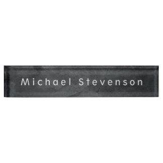 Einzigartiger grauer eleganter moderner schreibtischplakette