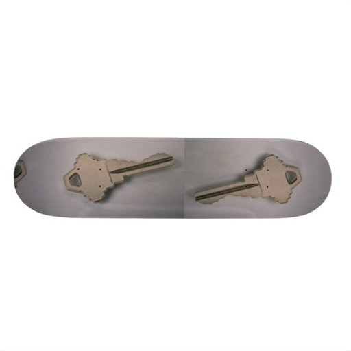 Einzigartiger Hausschlüssel Personalisiertes Skateboarddeck