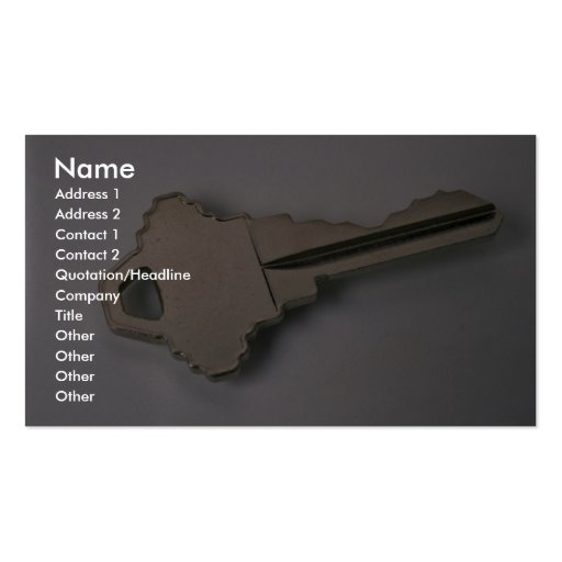 Einzigartiger Hausschlüssel Visitenkartenvorlagen