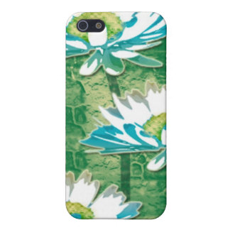 Einzigartiger Kunst iPhone Fall - weiße Blumen Schutzhülle Fürs iPhone 5