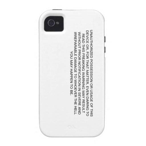 Einzigartiger, lustiger IPhone 4 Fall Case-Mate iPhone 4 Case
