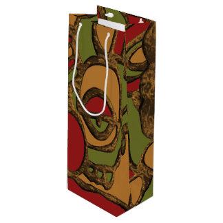 Einzigartiger Mayahieroglyphen-Entwurf Geschenktüte Für Weinflaschen