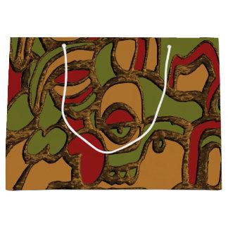 Einzigartiger Mayahieroglyphen-Entwurf Große Geschenktüte