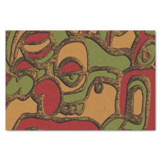 Einzigartiger Mayahieroglyphen-Entwurf Seidenpapier