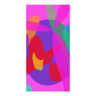 Einzigartiger psychedelischer rosa Entwurf Bild Karte
