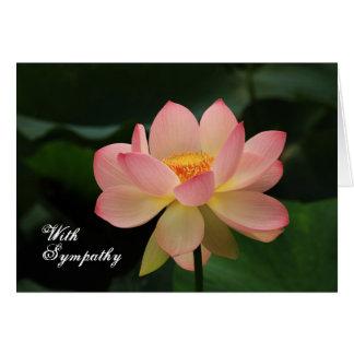 Einzigartiger rosa Lotos-buddhistisches mit Karte