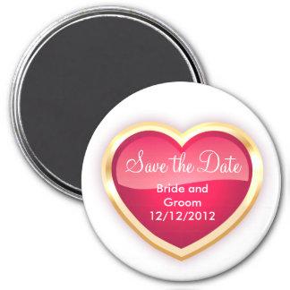 Einzigartiger Save the Date Magnet personalisiert Runder Magnet 7,6 Cm
