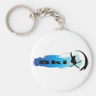 Einzigartiger Ski Schlüsselanhänger