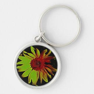 Einzigartiger Sonnenblume-Schlüsselring Schlüsselanhänger