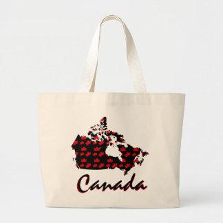 Einzigartiger Spaß kanadische roter Jumbo Stoffbeutel