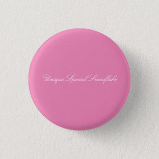 Einzigartiger spezieller Schneeflocke-Knopf Runder Button 2,5 Cm