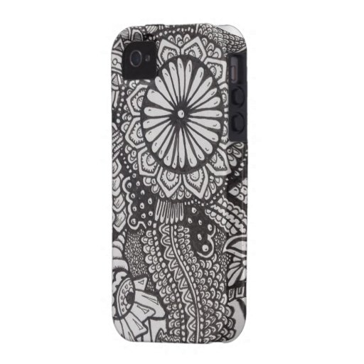 Einzigartiger Zentangle iPhone 4 Fall Case-Mate iPhone 4 Cover