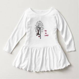 Einzigartiges Affe-Land-Kleinkind-Rüsche-Kleid Kleid