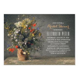 Einzigartiges Blumenland-Vintages Brautparty Karte