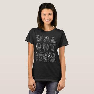 Einzigartiges elegantes dekoratives Schwarzes des T-Shirt