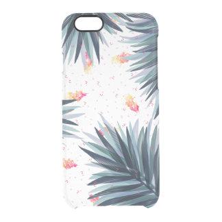 Einzigartiges empfindliches tropisches durchsichtige iPhone 6/6S hülle