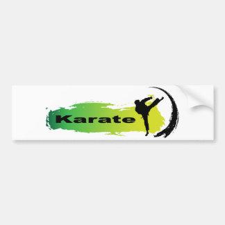 Einzigartiges Karate Autoaufkleber