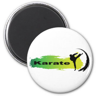 Einzigartiges Karate Runder Magnet 5,7 Cm