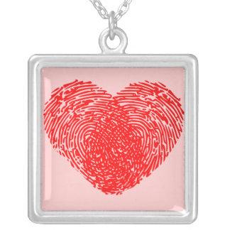 Einzigartiges Liebe-Herz-romantische persönliche Halskette Mit Quadratischem Anhänger