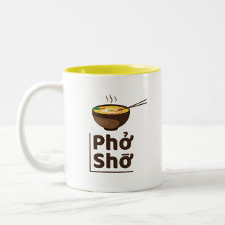 Einzigartiges Ramen Pho Sho Tassen-Gelb Zweifarbige Tasse