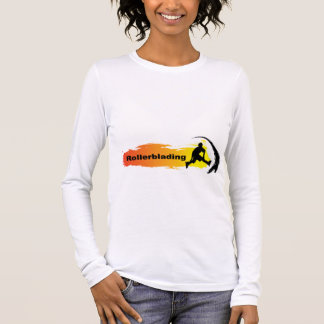 Einzigartiges Rollerblading Langarm T-Shirt