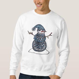 Einzigartiges Schneemann-Sweatshirt Sweatshirt