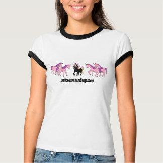 Einzigartiges schwarzes Einhorn T-Shirt