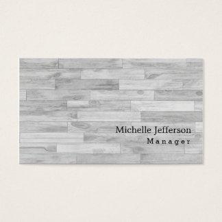 Einzigartiges stilvolles graues Parkett Visitenkarte